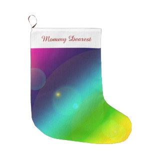Meia De Natal Grande Arco-íris borbulhante