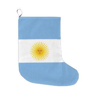 Meia De Natal Grande Bandeira de Argentina