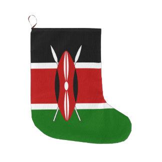 Meia De Natal Grande Bandeira de Kenya