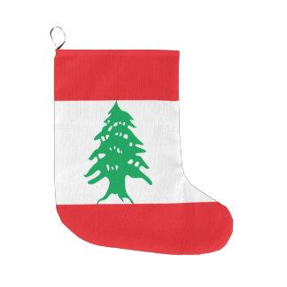 Meia De Natal Grande Bandeira de Líbano