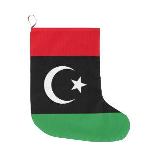 Meia De Natal Grande Bandeira de Líbia