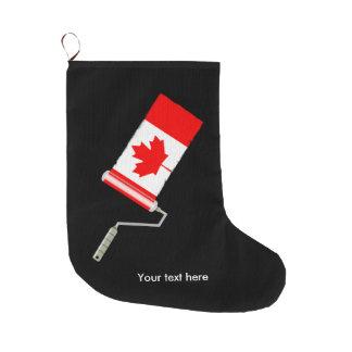 Meia De Natal Grande Bandeira do rolo de pintura de Canadá