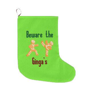 Meia De Natal Grande Beware a meia engraçada do Natal de Ginjas
