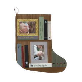 Meia De Natal Grande Biblioteca romântica de amante de livro