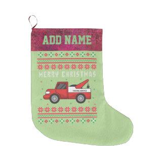 Meia De Natal Grande Camisola feia do Natal do caminhão de reboque