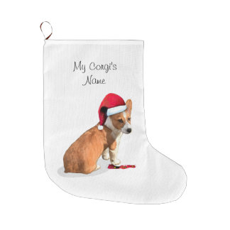 Meia De Natal Grande Cão do Corgi de Galês do Pembroke
