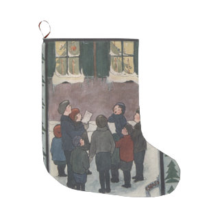 Meia De Natal Grande Carolers