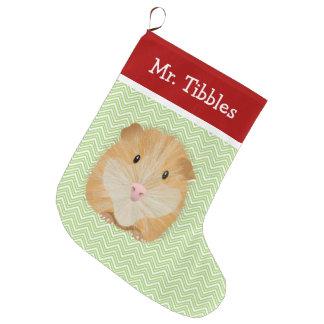 Meia De Natal Grande Cobaia do animal de estimação personalizada
