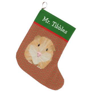 Meia De Natal Grande Cobaia personalizada