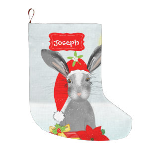 Meia De Natal Grande Coelho de coelho bonito do feriado do Natal