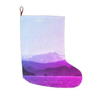 Meia De Natal Grande Estoque das montanhas roxas