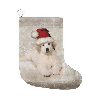 Meia De Natal Grande Feriado do Natal - chapéu do papai noel do filhote