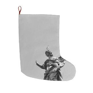 Meia De Natal Grande Foto simples, moderna da gaivota sobre a estátua