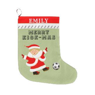 Meia De Natal Grande futebol personalizado