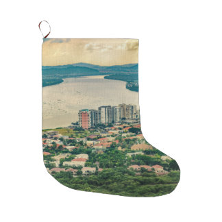 Meia De Natal Grande Ideia aérea do subúrbio de Guayaquil do plano