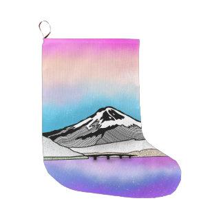 Meia De Natal Grande Ilustração da paisagem do Mt Fuji Japão
