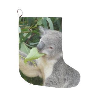 Meia De Natal Grande Koala que come a folha da goma