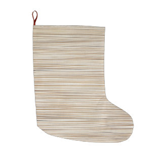 Meia De Natal Grande Linhas de madeira abstratas bonitos design