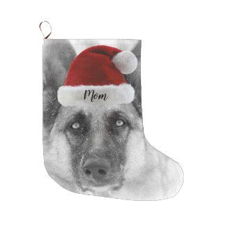 Meia De Natal Grande Meia adorável do Natal do german shepherd
