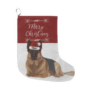Meia De Natal Grande Meia bonita do Natal do german shepherd