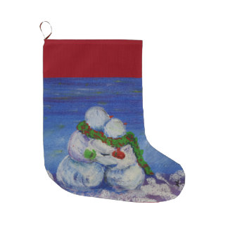 Meia De Natal Grande Meia do Natal do boneco de neve de Romancing