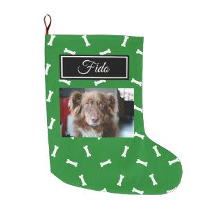 Meia De Natal Grande Meia personalizada do Natal do cão