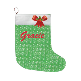 Meia De Natal Grande Mude o nome; Meia personalizada do Natal!
