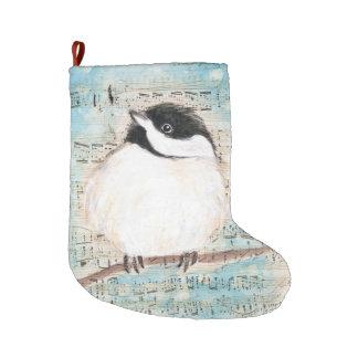 Meia De Natal Grande Música do Chickadee do passarinho