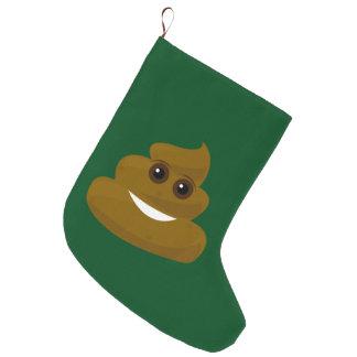 Meia De Natal Grande Não dê um Poo Emoji