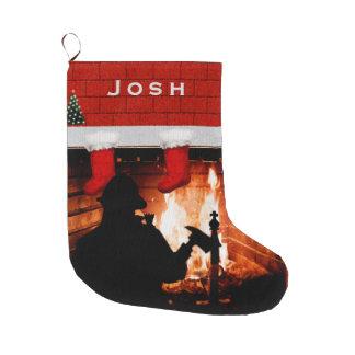 Meia De Natal Grande Natal do sapador-bombeiro