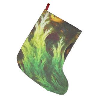 Meia De Natal Grande O DeepDream de uma alga de cores desvanecidas da