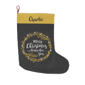 Meia De Natal Grande O Natal deseja a meia conhecida feita sob
