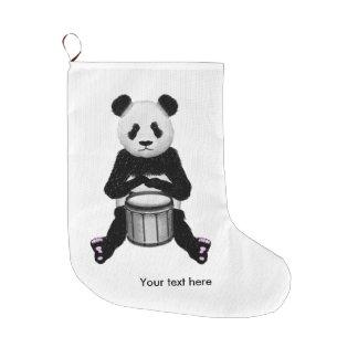Meia De Natal Grande Panda engraçada que joga cilindros