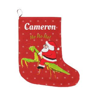 Meia De Natal Grande Papai noel na meia personalizada do Xmas da