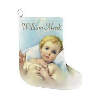 Meia De Natal Grande Personalize o bebê Jesus