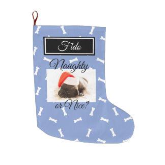 Meia De Natal Grande Personalize o estoque do Natal do cão impertinente
