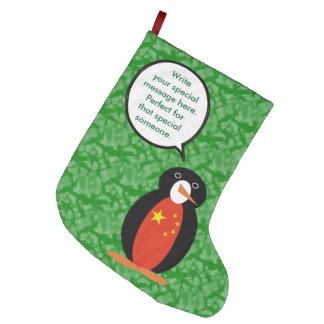 Meia De Natal Grande Pinguim do feriado da República Popular de China