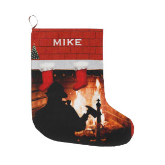Meia De Natal Grande Presente do Natal do sapador-bombeiro