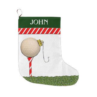 Meia De Natal Grande Presentes personalizados do Natal do golfe