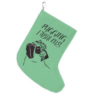 Meia De Natal Grande Pugging fabuloso