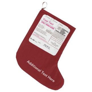 Meia De Natal Grande Saco da transfusão de sangue