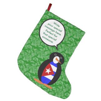 Meia De Natal Grande Sr. cubano Pinguim do feriado