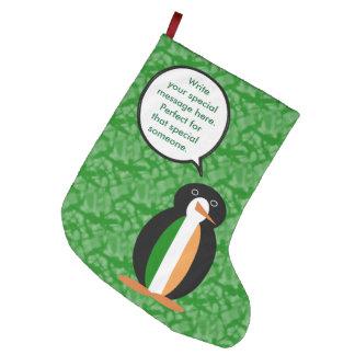 Meia De Natal Grande Sr. irlandês Pinguim do feriado