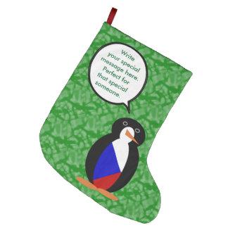 Meia De Natal Grande Sr. Pinguim do feriado da república checa