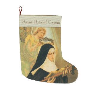 Meia De Natal Grande St. Rita de Cascia