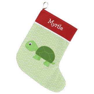 Meia De Natal Grande Tartaruga do animal de estimação personalizada