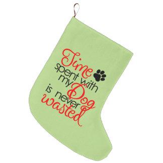 Meia De Natal Grande Tempo do cão da qualidade