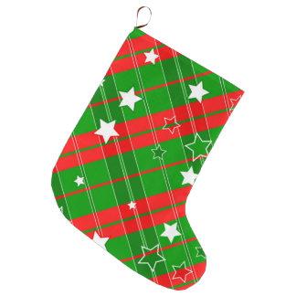 Meia De Natal Grande Teste padrão do design do Natal