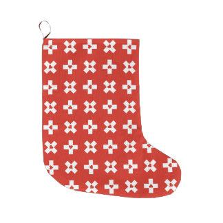Meia De Natal Grande Teste padrão patriótico do Bandeira-Coração da