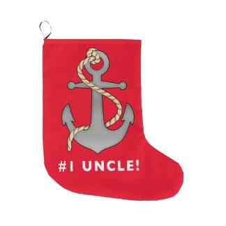 Meia De Natal Grande Tio Âncora do número um com uma corda